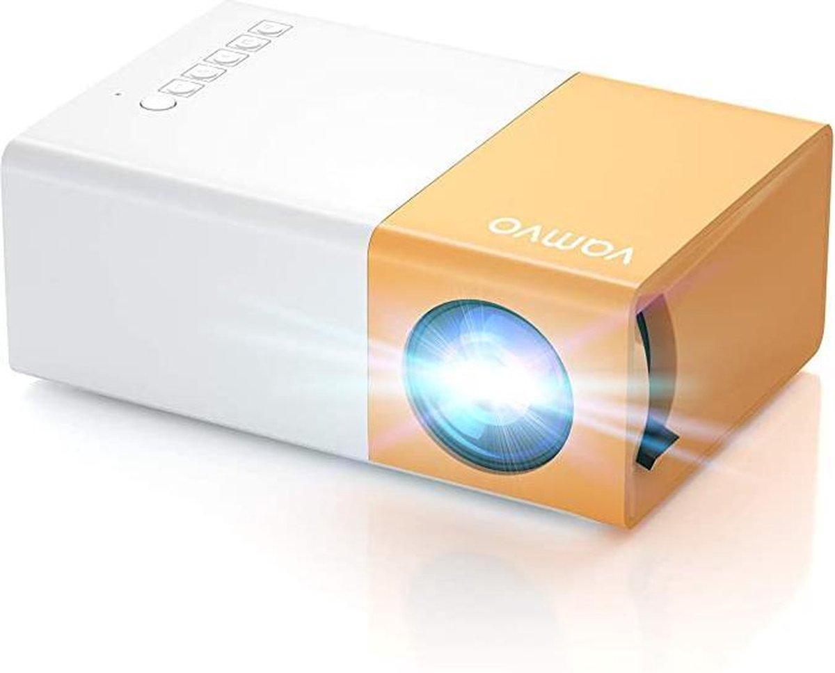 Mini Beamer - Vvo YG300 Pro Mini-projector, draagbare filmprojector 1080p, ondersteunt kindercadeau,