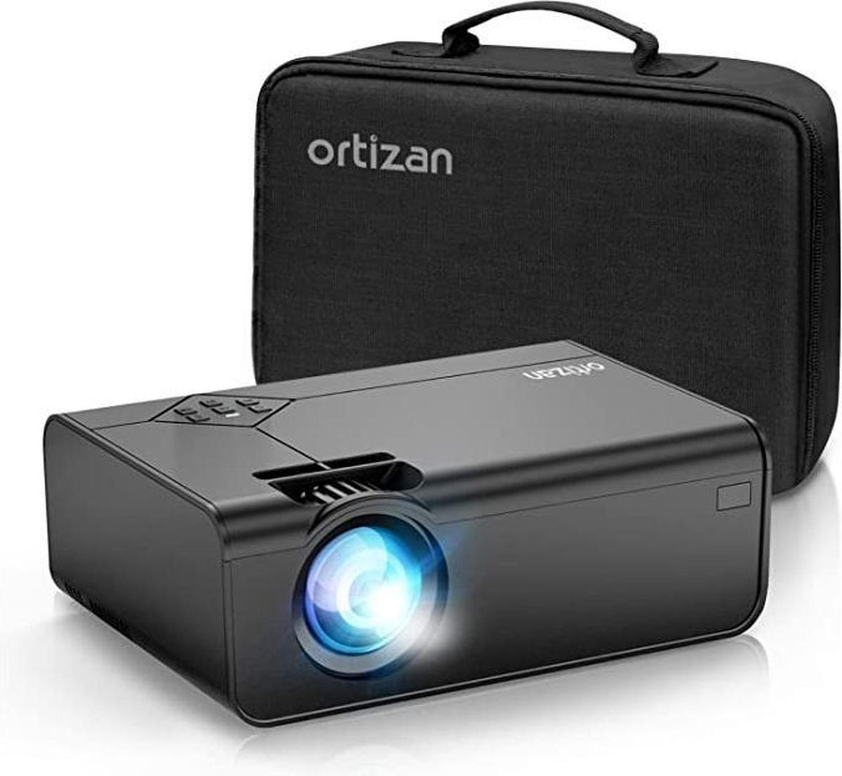 """Mini Beamer - Ozan Mini beamer, draagbare home theater beamer met 1080p Full HD, 5000 lumen en 180"""