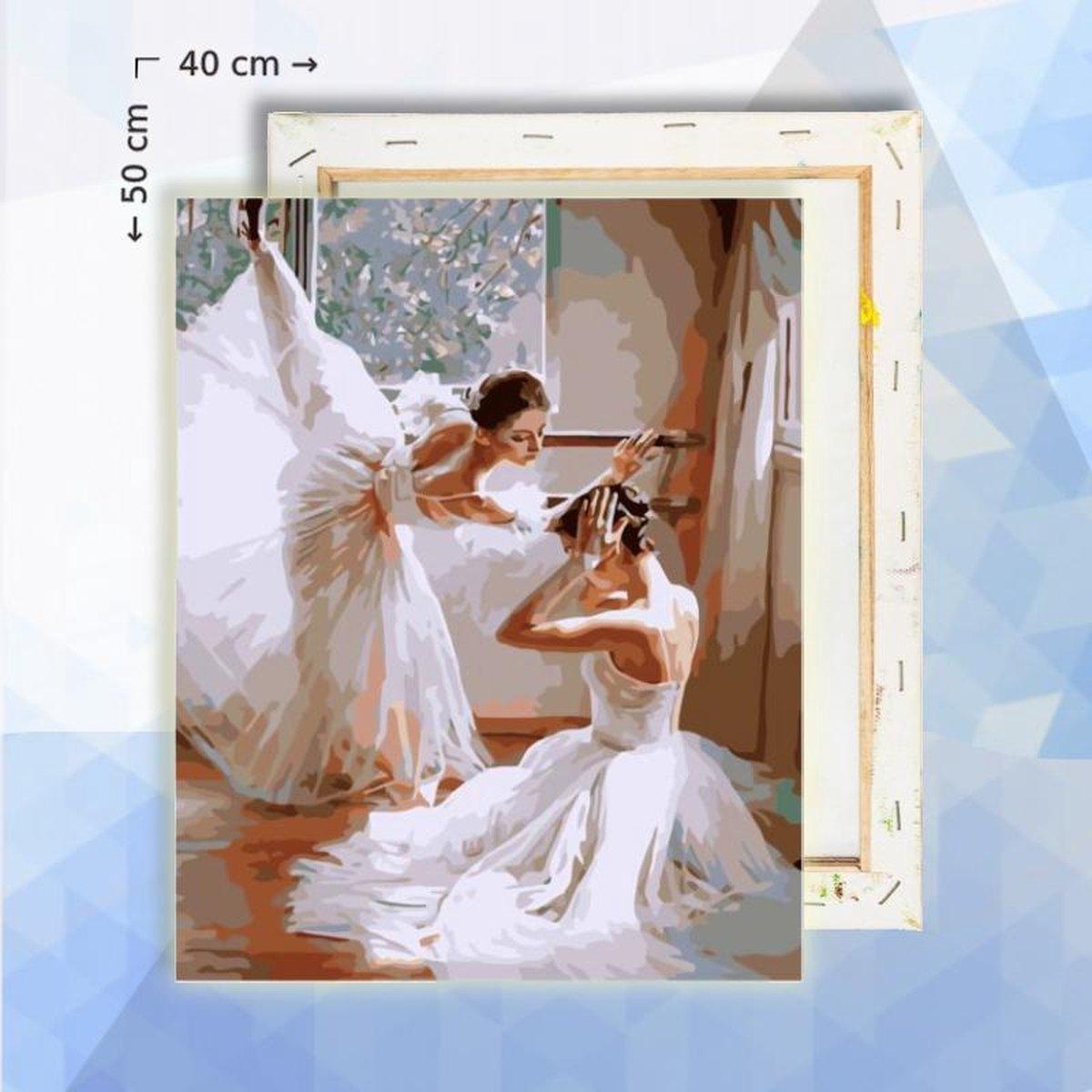 Schilderen op nummer pakket Ballerinas 40 x 50 cm - met frame