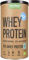 Purasana Whey proteine lactosevrij naturel 400 gram