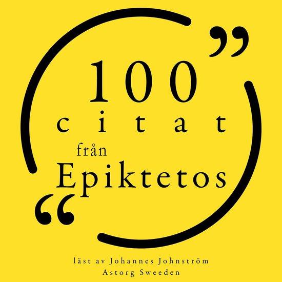 Boek cover 100 citat från Epiktetos van Epictetus (Onbekend)
