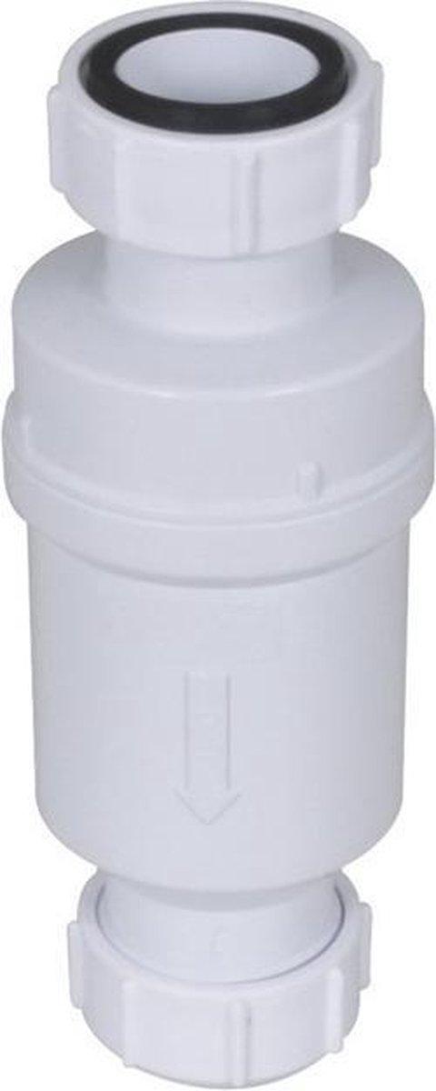 Walraven Macvalve -8 waterslotloos sifon 1 1/2x40, wit