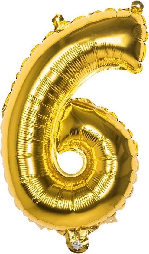 Boland Cijferballon 6 Folie 66 Cm Goud