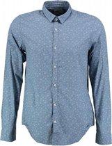 Garcia blauw slim fit overhemd fine cotton valt kleiner - Maat  M