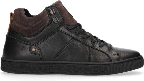 Manfield - Heren - Zwarte hoge sneakers - Maat 41