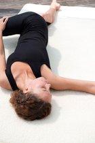 Yogamat natuur (schapenwol) omzoomd 75x180cm Fitnessmat YOGISTAR