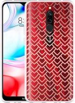 Xiaomi Redmi 8 Hoesje Pink Pattern