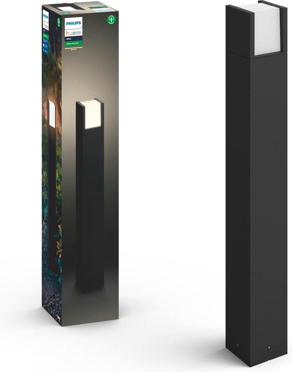 Philips Hue Outdoor Fuzo Sokkellamp - White - 77 cm hoog - Zwart - 15W - IP44