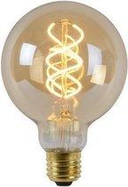Lucide G95 - Filament lamp - Ø 9,5 cm - LED Dimb. - E27 - 1x5W 2200K - Amber