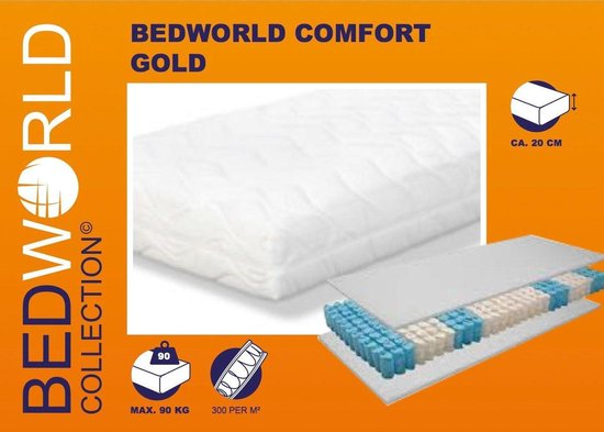 Matras Pocket Comfort Gold 80x220