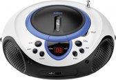 Lenco SCD-38 - Radio/CD-speler met USB - Wit/Blauw