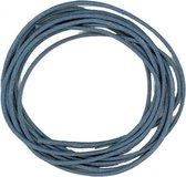 Cotton wax cord 0.5 mm/1 m. blue - 6 stuk