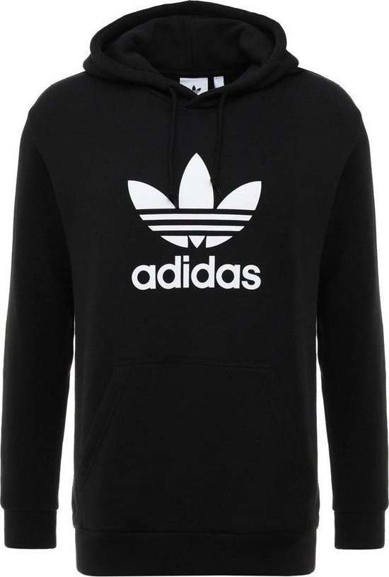 adidas Originals Trefoil Hoodie Heren - Black - Maat L