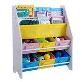 Opbergkast kinderen en boekenkast in 1 - Opbergrek voor opbergen van boekjes, speelgoed en knuffels - Kinderkast / organizer / speelgoedrek / speelgoedkast voor kinderkamer in wit - Decopatent®