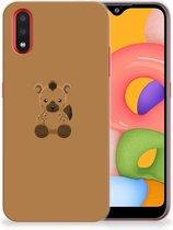 Samsung Galaxy A01 Telefoonhoesje met Naam Baby Hyena