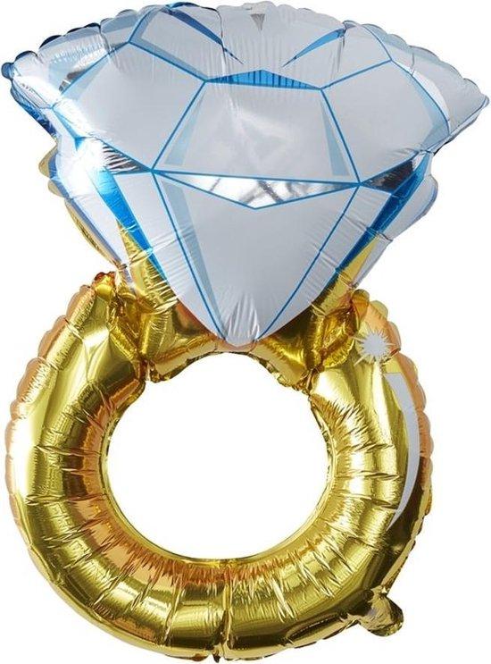 Ginger Ray I Do Crew - Ring folieballon 51 x 81 cm  - goud