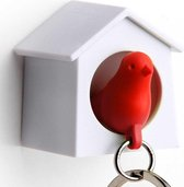 Mini Sparrow Sleutelhanger - Rood