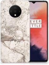 TPU Siliconen Hoesje OnePlus 7T Marmer Creme