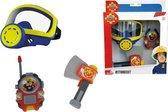 Simba - Brandweerman Sam - Zuurstofmasker, bijl, walkie talkie