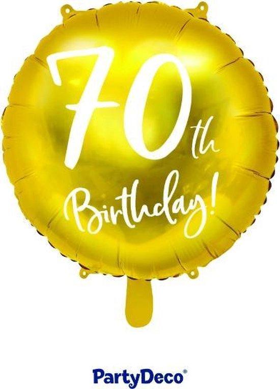 Folieballon 70th Birthday gold