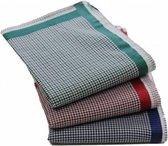 Swan Dames zakdoeken Kleine ruit Alexa 12 stuks  - 30  - Blauw