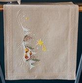 Tafelloper Winterlandschap met ster borduren (pakket)