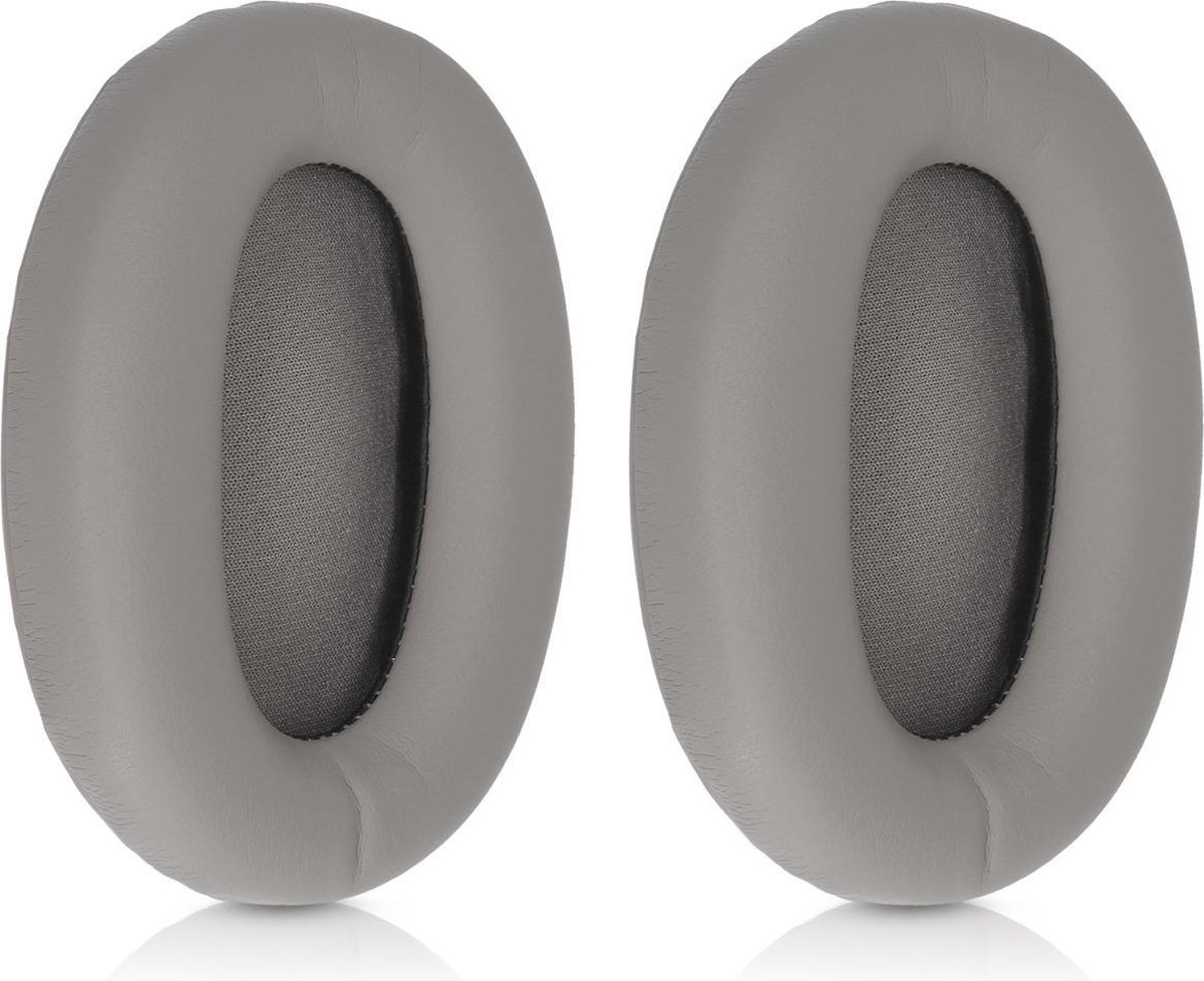 kwmobile 2x oorkussens voor Sony MDR-1000X / WH-1000XM2 koptelefoons - imitatieleer - voor over-ear-koptelefoon - grijs