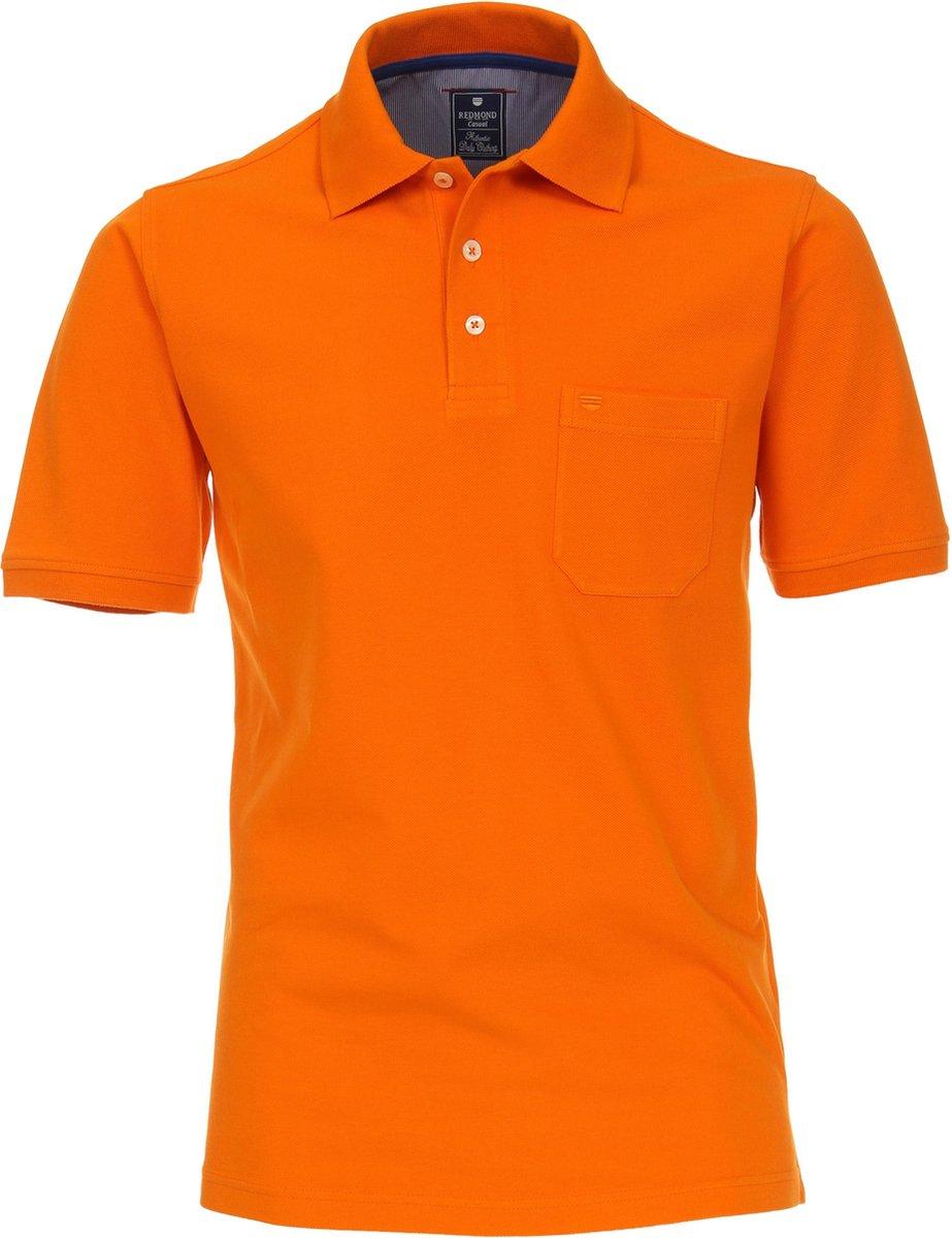 Redmond Regular Fit poloshirt - oranje -  Maat: 3XL