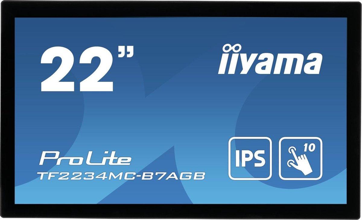 iiyama ProLite TF2234MC-B7AGB touch screen-monitor 54,6 cm (21.5) 1920 x 1080 Pixels Multi-touch Multi-gebruiker Zwart