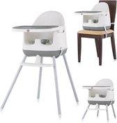 Kinderstoel 3 in 1 Pudding grijs Chipolino modern en vrolijk tafelen!