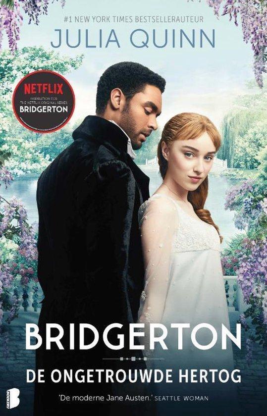 Boek cover Bridgerton 1 -   De ongetrouwde hertog van Julia Quinn (Paperback)