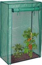 relaxdays tuinkas tomaten, broeikas, kwekerij, kweekkas, 150cm hoog, robuust