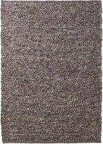 Wollen vloerkleed handweef Oslo - grijs 160x230 cm