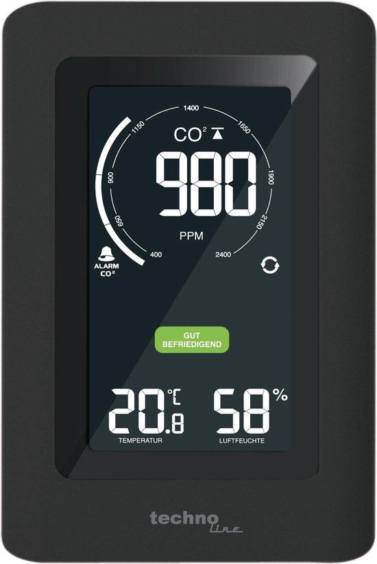 Technoline WL 1030 -  CO2 Luchtkwaliteitmeter met Thermo/Hygrometer - Zwart