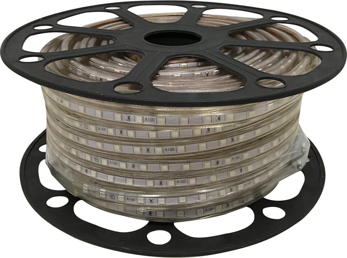 LED Strip - Igna Strabo - 50 Meter - Dimbaar - IP65 Waterdicht - Groen - 5050 SMD 230V