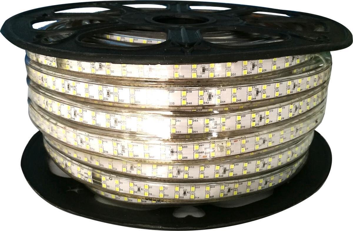 LED Strip - Igia Strobi - 50 Meter - Dimbaar - IP65 Waterdicht - Helder/Koud Wit 6500K - 2835 SMD 230V