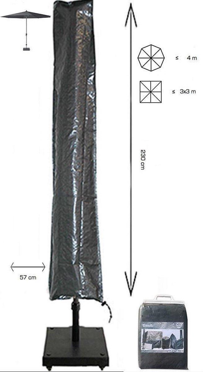 COVER UP HOC Basic Parasolhoes staande Parasol 230x30x57 cm - Grijs