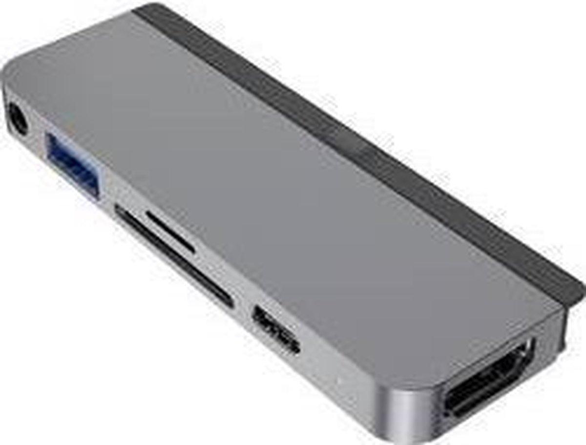 HYPER 6-in-1 USB-C hub iPad Pro space gray