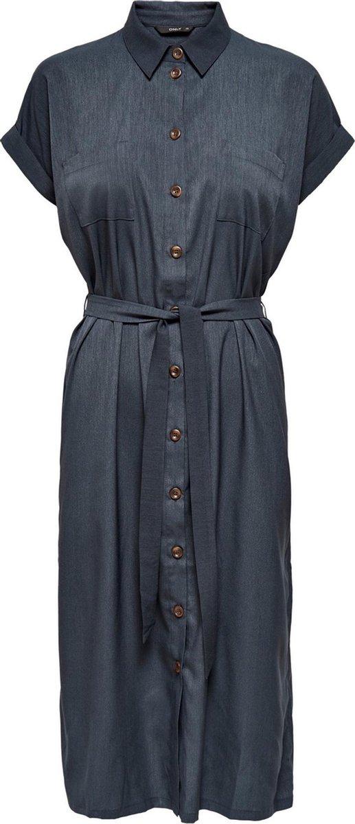 ONLY ONLHANNOVER S/S SHIRT DRESS  WVN Dames Jurk - Maat 38