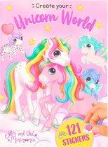 Ylvi Stickerboek Unicorn World Meisjes 24,5 Cm Papier Roze