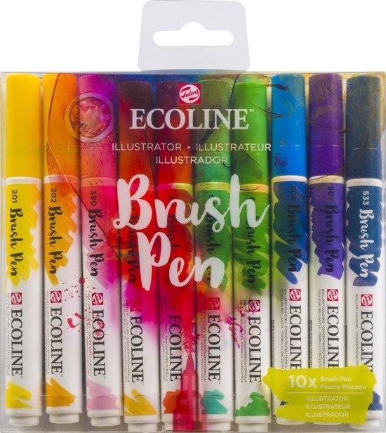 Afbeelding van Talens Ecoline Brush Pen - 10 stuks - Illustrator - Brushpen speelgoed