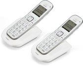Fysic FX-9000 DUO Senioren DECT telefoon - Extra luid gespreksvolume voor slechthorenden - Wit