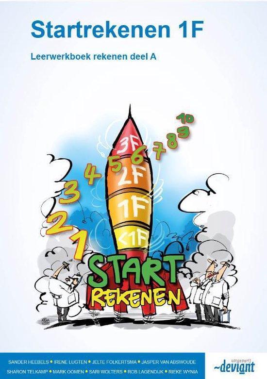 Boek cover Startrekenen 1F Deel A rekenen Leerwerkboek van Sander Heebels (Paperback)