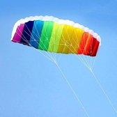 Matras Vlieger - Regenboog Kleur - Kinderen & Volwassenen - Kite - 140 x 60 cm Matrasvlieger - 30 Meter Lijn op Haspel