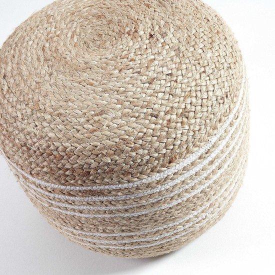 Kave Home - Saht mand naturel en wit Ø 45 cm
