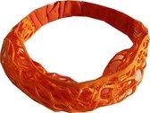 Haarband Bandana Open Oranje
