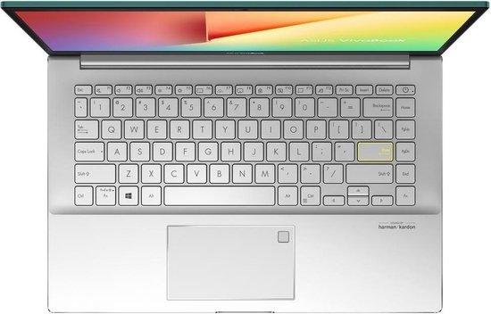 ASUS VivoBook S14 S433FA-EB450T Notebook Groen, Zilver 35,6 cm (14'') 1920 x 1080 Pixels Intel® 10de generatie Core™ i5 8 GB DDR4-SDRAM 256 GB SSD Wi-Fi 6 (802.11ax) Windows 10 Home