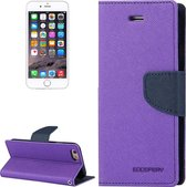 Let op type!! MERCURY GOOSPERY FANCY DIARY for iPhone 6 & 6s Cross Texture Horizontal Flip Leather Case with Card Slots & Wallet & Holder(Black)