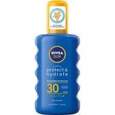 NIVEA SUN Zonnebrand - Protect & Hydrate Zonnebrandspray - SPF 30 - 200 ml