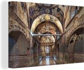 Een kunstzinnige moskee afkomstig uit het Byzantijnse Rijk canvas 60x40 cm - Foto print op Canvas schilderij (Wanddecoratie woonkamer / slaapkamer)
